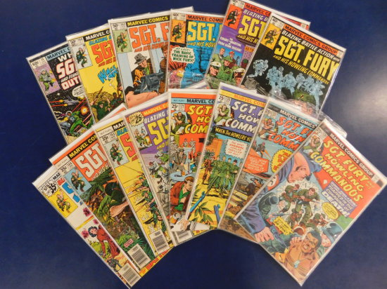 (14) SGT. FURY AND HIS HOWLING COMMANDOS COMIC BOOKS
