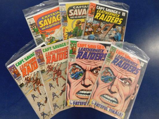 (7) VINTAGE MARVEL COMICS - CAPT. SAVAGE