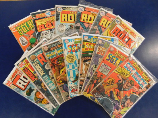 (15) SGT. ROCK DC COMIC BOOKS
