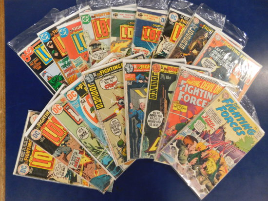 """(18) """"OUR FIGHTING FORCES"""" DC COMIC BOOKS"""