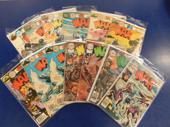 "(12) 1970's CHARLTON COMIC BOOKS ""WAR""  (1) MODERN COMICS"