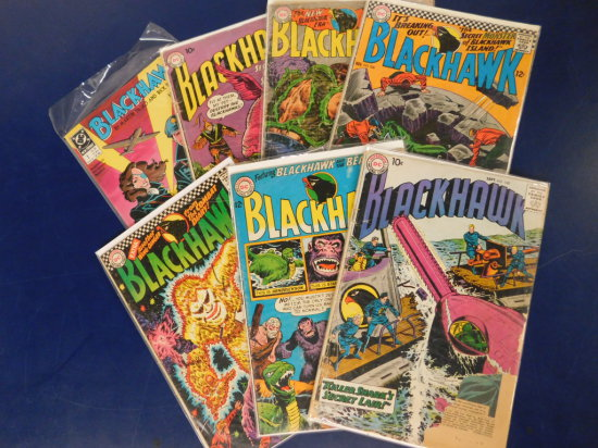 (6) 50's & 60's DC COMICS - BLACKHAWK (1) 1989 NEW FORMAT
