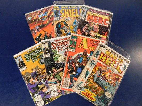 (7) ASSORTED MARVEL COMIC BOOKS
