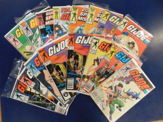 (16) G.I. JOE MARVEL COMIC BOOKS