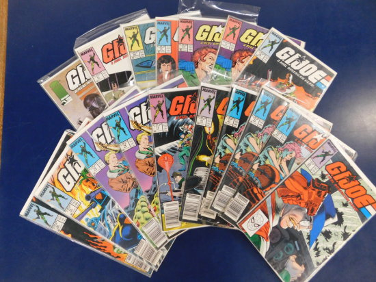 (16) G.I. JOE MARVEL COMIC BOOKS, (1) IMAGE COMIC