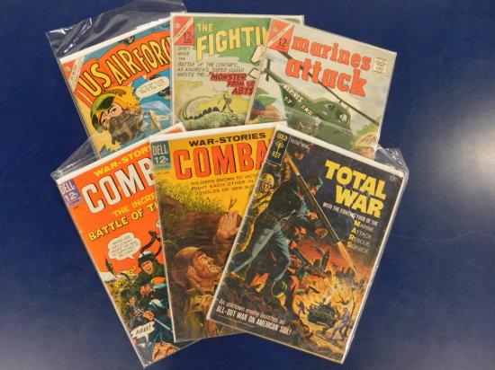 (6) ASSORTED MILITARY COMIC BOOKS