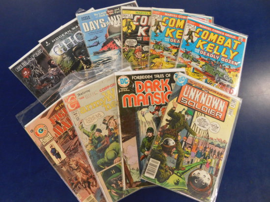 (10) ASSORTED MILITARY COMIC BOOKS
