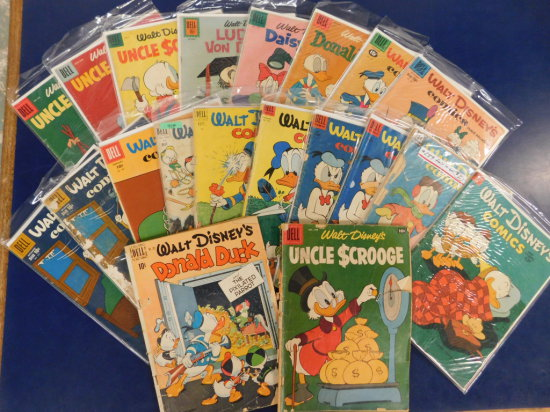 (20) WALT DISNEY'S COMICS AND STORIES - DELL COMIC BOOKS