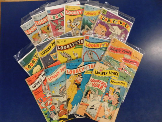 "(16) DELL "" LOONEY TUNES"" COMIC BOOKS"