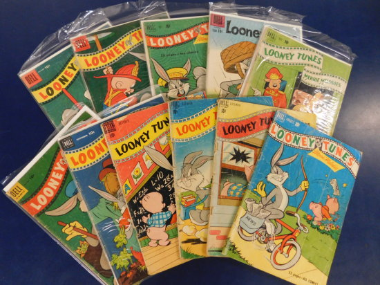 "(12) DELL "" LOONEY TUNES"" COMIC BOOKS"