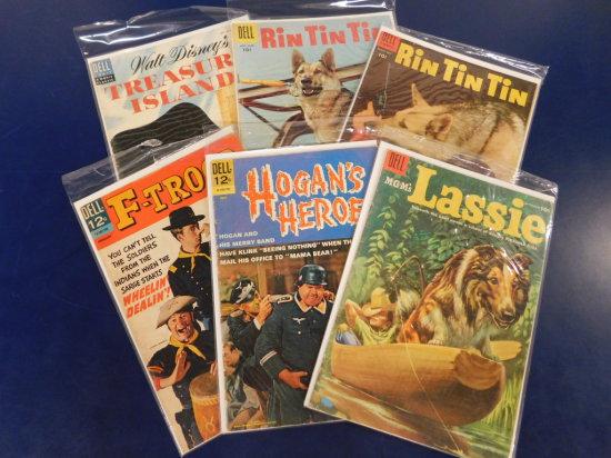 (6) ASSORTED DELL COMIC BOOKS