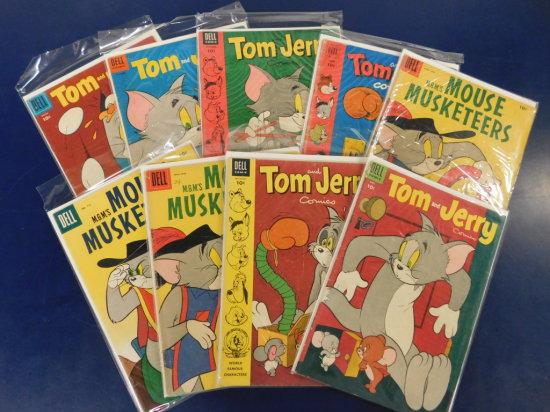 (9) TOM & JERRY COMIC BOOKS - DELL COMIC