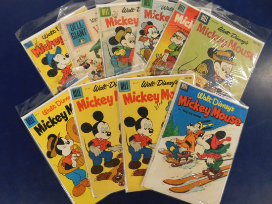 "(10) WALT DISNEY ""MICKEY MOUSE"" COMIC BOOKS - DELL COMIC"
