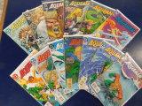 (13) AQUAMAN COMIC BOOKS - DC COMICS