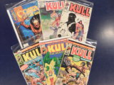 (6) KULL & CONAN COMIC BOOKS - MARVEL COMICS