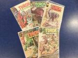 (5) TUROK SON OF STONE COMIC BOOKS - VARIOUS PUBLISHERS