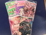 (5) CLAW COMIC BOOKS - VARIOUS PUBLISHERS