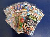(16) TITANS COMIC BOOKS - DC COMICS