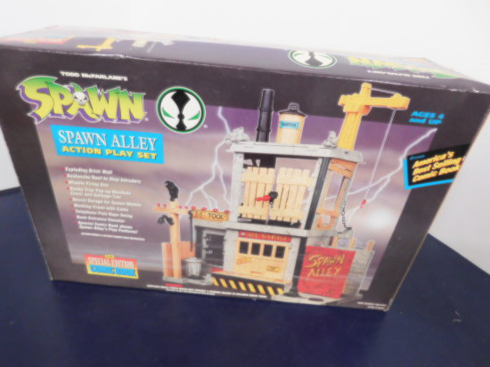"1994 TODD TOYS ""SPAWN"" ALLEY ACTION PLAY SET"