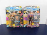 (2) 1993 STAR TREK NEXT GENERATION ACTION FIGURES - NOS