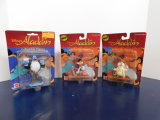 (3) MATTEL ALADDIN ACTION FIGURES = NOS