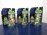 (3) 1999 STAR WARS TALKING ACTION FIGURES - HASBRO - NOS