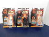 (3) STAR WARS TALKING EPISODE I ACTION FIGURES - NOS