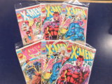(6) 1991 X-MEN 1ST ISSUE VARIANT COMIC BOOKS - MARVEL COMICS