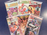 (6) TRANSFORMERS COMIC BOOKS - VARIOUS PUBLISHERS