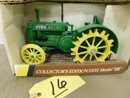 """ERTL 1/16 JOHN DEERE 1935 MODEL """"BR"""" TRACTOR"""