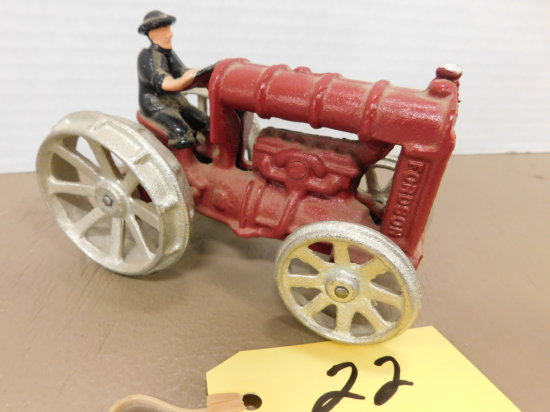CAST IRON FORDSON TRACTOR W/ DRIVER