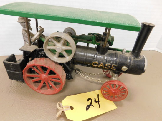IRVINS MODEL SHOP CASE STEAM ENGING TOY TRACTOR