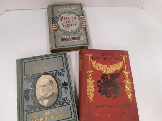 3 VINTAGE HARD BACK BOOKS
