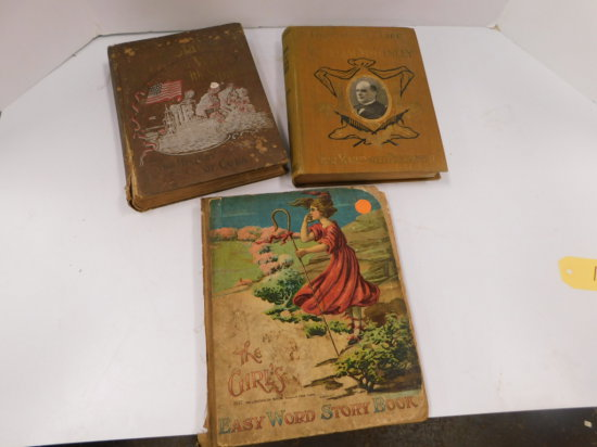 3 VINTAGE HARD BACK BOOKS