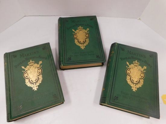 3 VINTAGE HISTORY OF FRANCE HARD BACK BOOKS