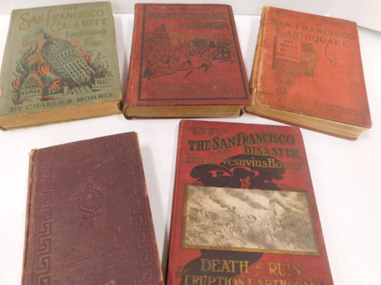 5 VINTAGE HARD BACK BOOKS
