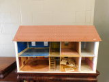 VINTAGE CHILDRENS TWO STORY DOLL HOUSE