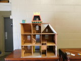 VINTAGE CHILDRENS THREE STORY MANSION WITH PORCH