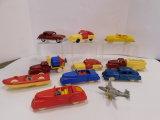 10 VINTAGE RENEWAL PLASTIC CARS