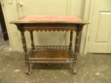 VINTAGE WOODEN LIBRARY TABLE