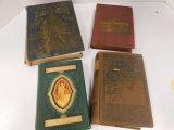 4 VINTAGE HARD BACK BOOKS