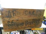 VINTAGE WOOD ARBUCKLES COFFEE CRATE