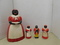 VINTAGE PLASTIC AUNT JEMIMA COOKIE JAR; CREAMER; SALT & PAPPER