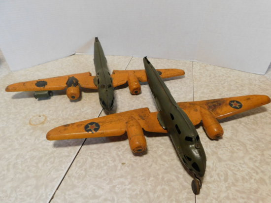 PAIR OF BUDDY L PRESSED STEEL BOMBERS