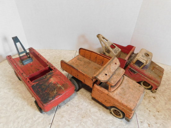 GROUP OF (3) BUDDLY L RESTORATION PROJECT TRUCKS