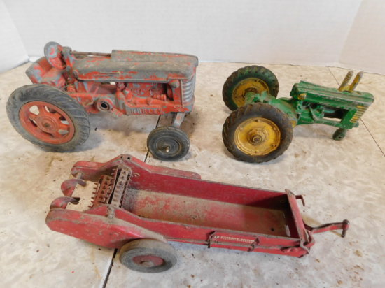 GROUP OF FARM TOY RESTORATION PROJECTS