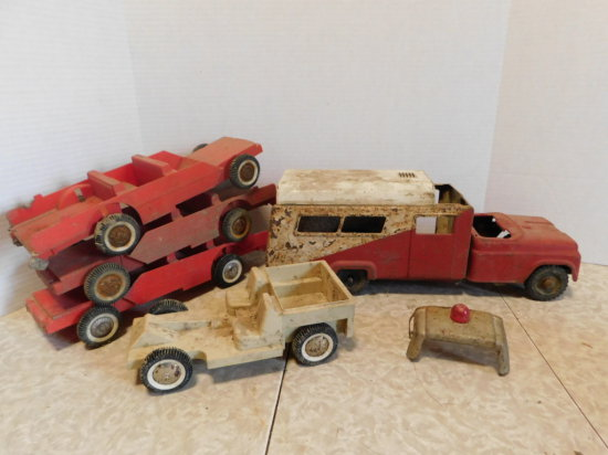 GROUP OF BUDDY L & TONKA PARTS TRUCKS