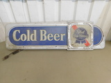 PABST BLUE RIBBON LIGHTED PLASTIC BEER SIGN