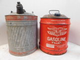 2 VINTAGE 5 GALLON GAS CANS