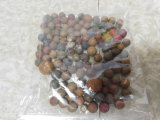 APPROX (115) CLAY MARBLES - VARIOUS SIZED